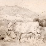 Charles Collins, Cottage and Three Cows