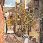 G Gardiner, Yard at Wheatsheaf, 1901