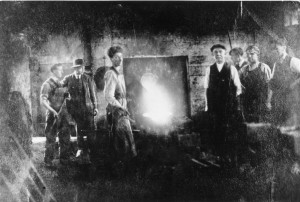 Workmen at the Furnace of the Dorking Foundry.