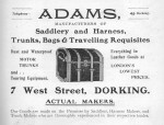 Adams Advert 1913