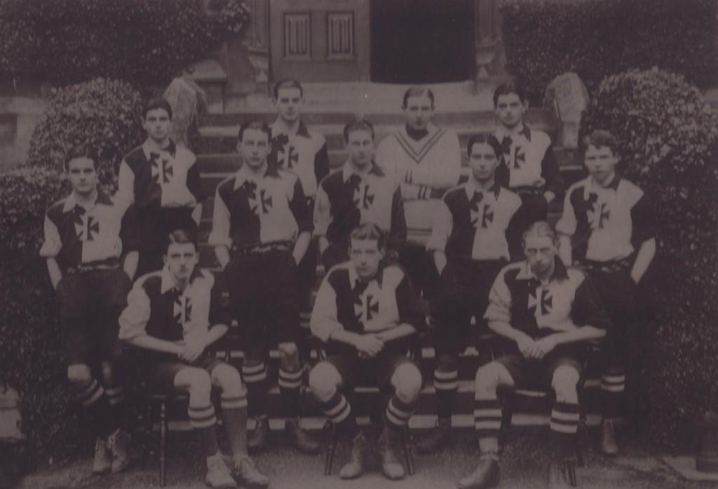Arthur John Edward Carey and Malvern College Football Team © Malvern College