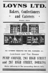 Loyns Bakers Advert 1950