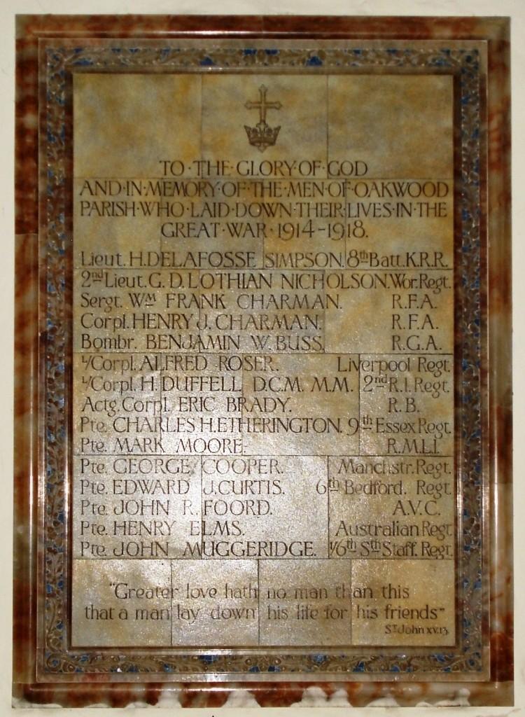 Okewoodhill Memorial.