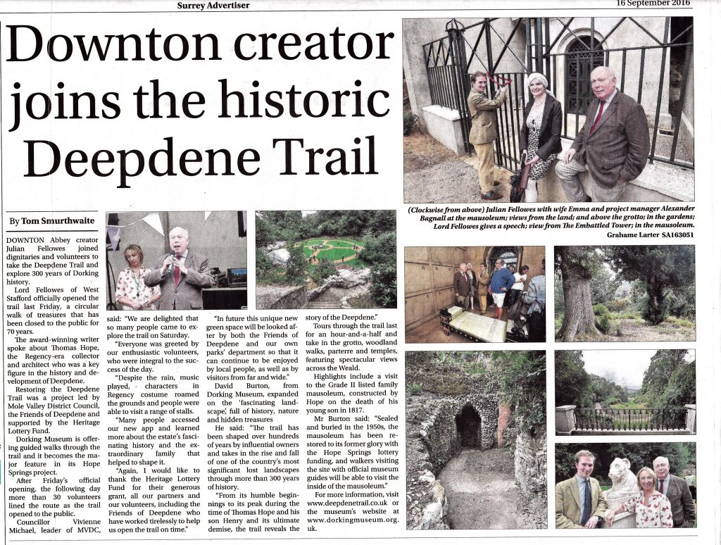 The Opening of The Deepdene Trail