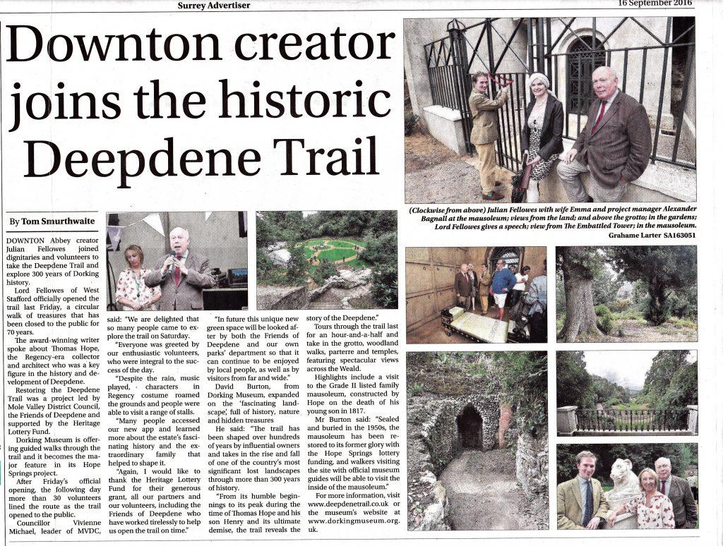 The Opening of The Deepdene Trail September 2016