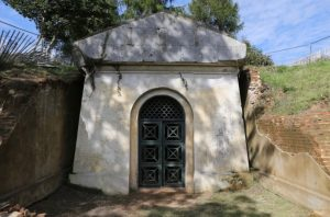 The Hope Mausoleum with the iron doors reinstated 2015 © Mole Valley District Council