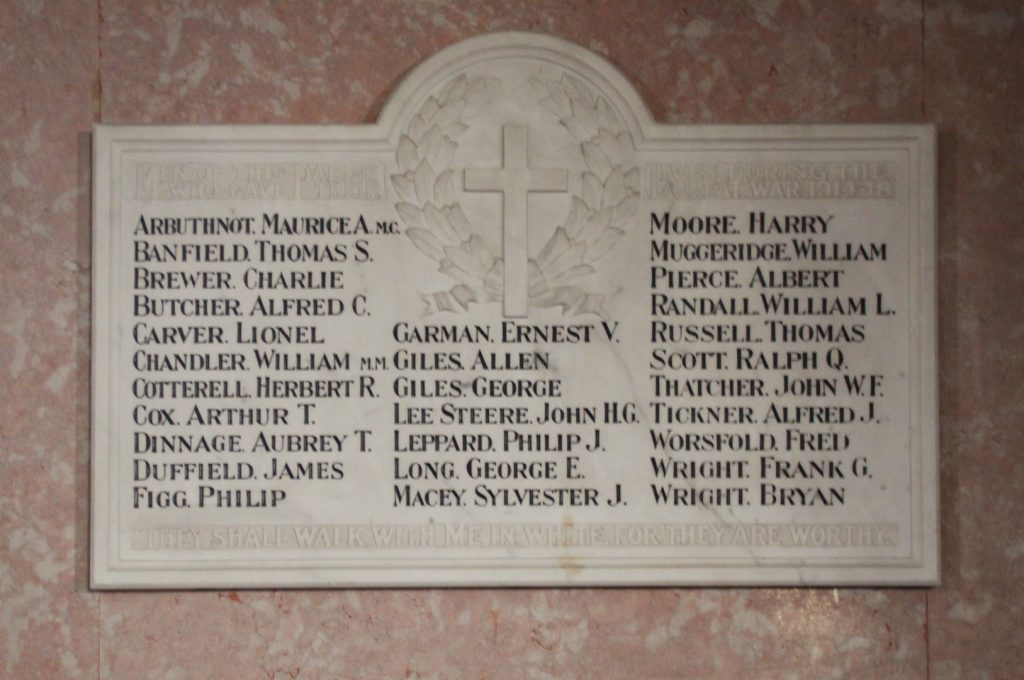 WW1 Memorial St Margaret's Church Ockley © friends of St. Margarets